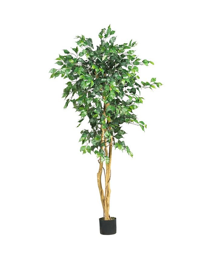 Nearly Natural 5 Artificial Ficus Tree Reviews Home Decor Home Macy S
