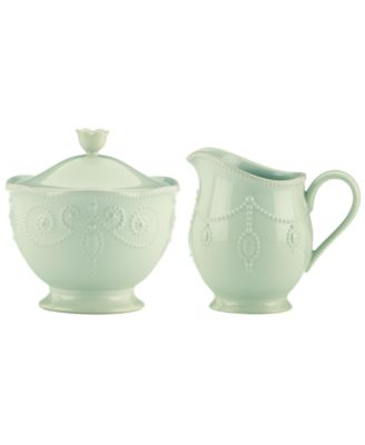 Lenox Dinnerware, French Perle Ice Blue Sugar and Creamer Set