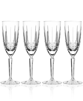 Marquis by Waterford Toasting Flutes Set of 4 Sparkle Champagne