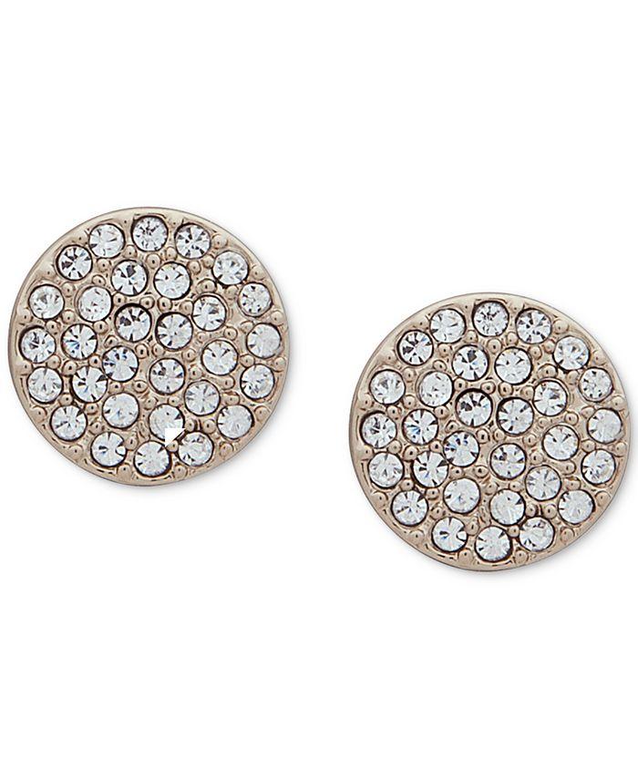 DKNY - Pavé Disc Stud Earrings