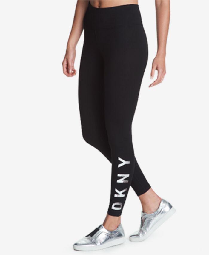 DKNY - High-Rise Logo Active Leggings