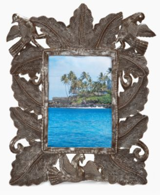 "Heart of Haiti Picture Frame, Forest 5"" x 7"""