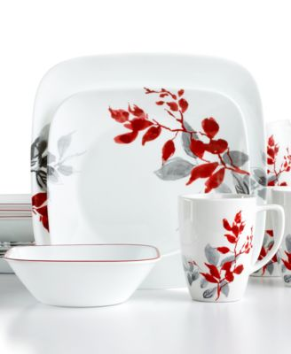 Corelle Dinnerware, Kyoto Leaves 16 Piece Set