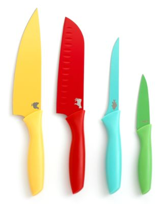 Martha Stewart Collection Color Coded Cutlery, Set of 4