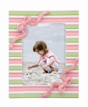 """Gorham Picture Frame, Merry Go Round Little Girl with a Curl Striped 5"""" x 7"""""""