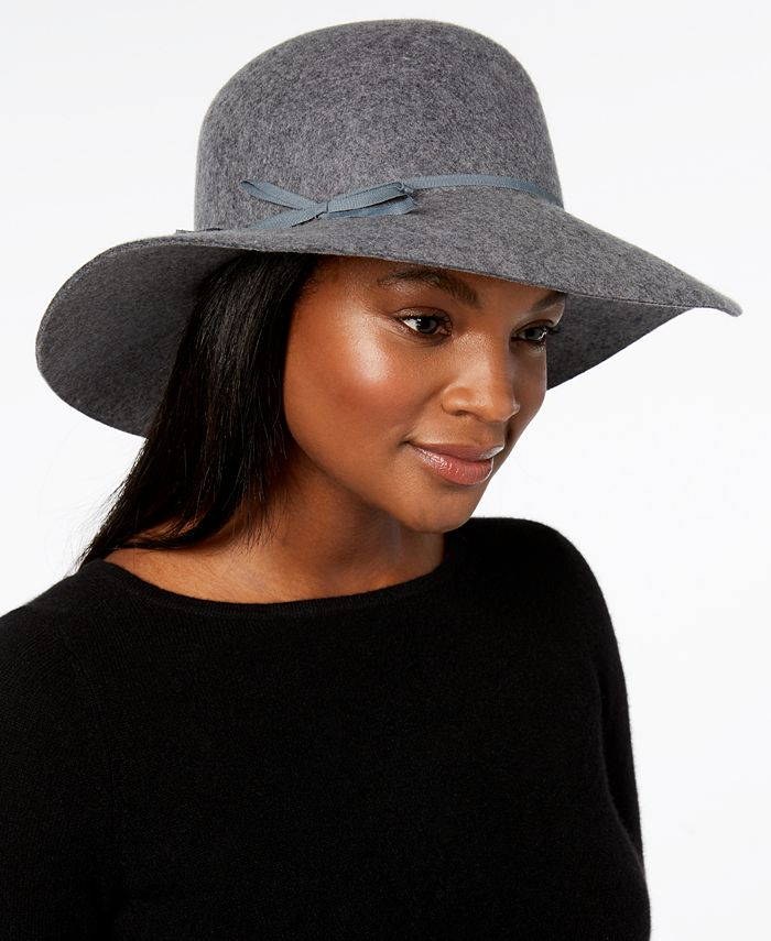 Nine West - Wool Felt Floppy Hat