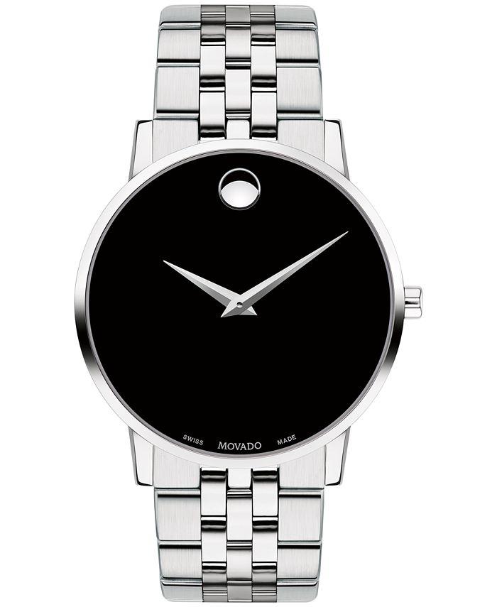 Movado - Men's Swiss Museum Classic Stainless Steel Bracelet Watch 40mm