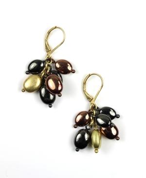 Jones New York Earrings, Tri Tone Cluster Earrings