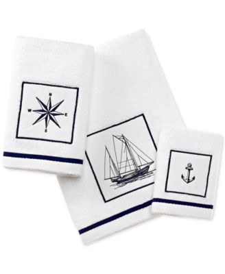 Cape Island Cotton Embroidered Appliqué Fingertip Towel