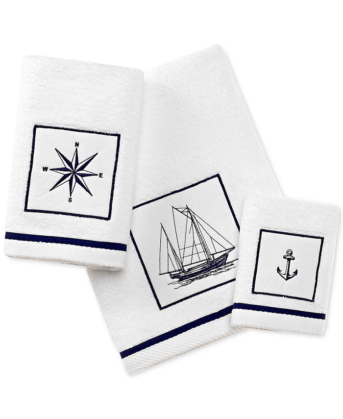 City Scene - Cape Island Cotton Embroidered Appliqué Fingertip Towel