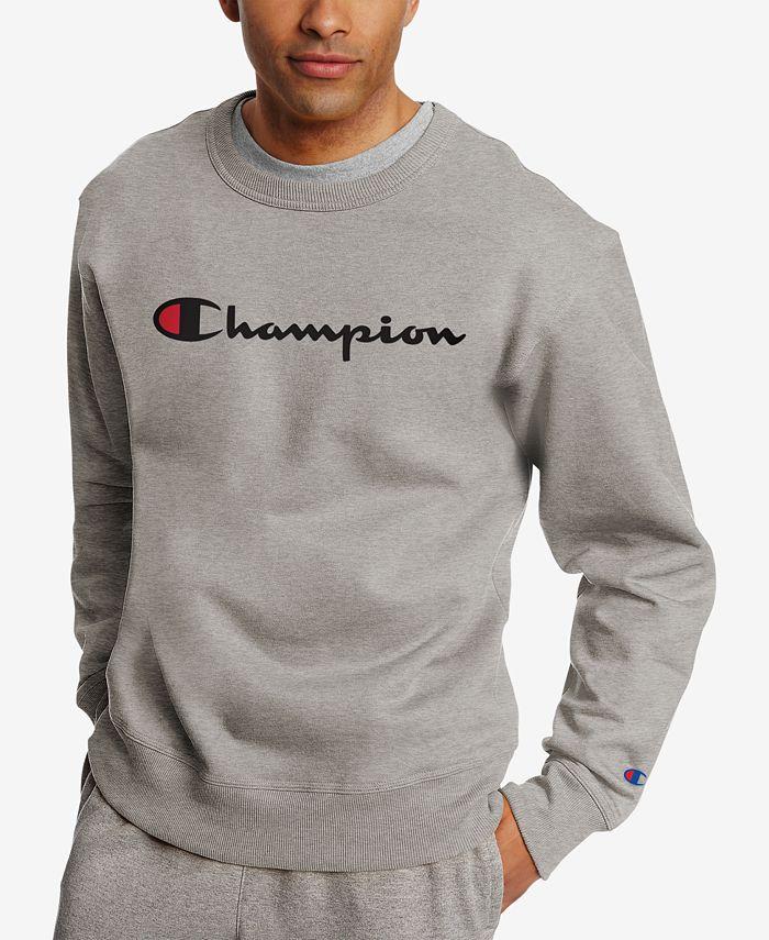 Champion - Men's Powerblend Fleece Logo Sweatshirt