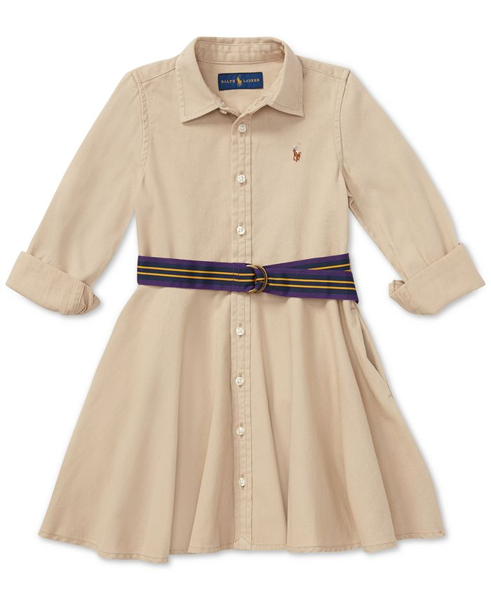 Polo Ralph Lauren - Toddler Girls Chino Cotton Shirtdress