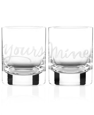 kate spade new york Mine and Yours Double Old Fashioned Glasses Set