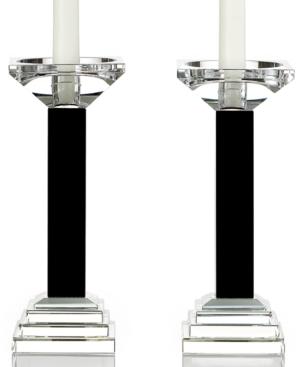 Lighting by Design Candle Holders, Set of 2 Metropolitan Black Candlesticks