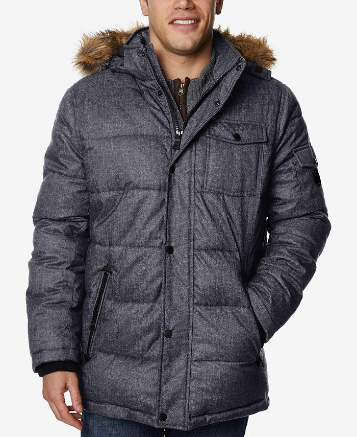 Nautica - Men's Quilted Hooded Parka