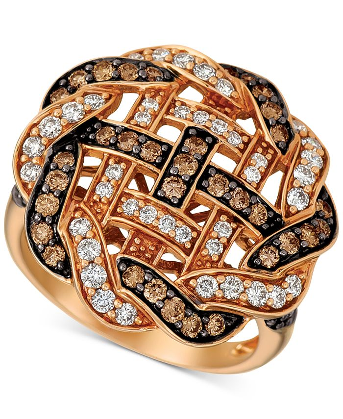 Le Vian - Diamond Weave Statement Ring (1-1/3 ct. t.w.) in 14k Rose Gold