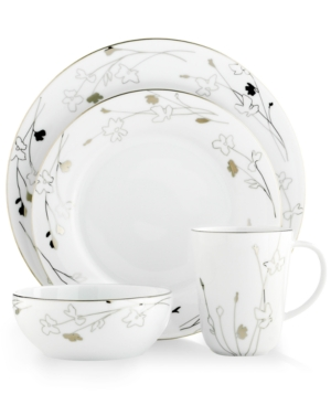 Charter Club Dinnerware, Grand Buffet Platinum Silhouette Round 4 Piece Place Setting