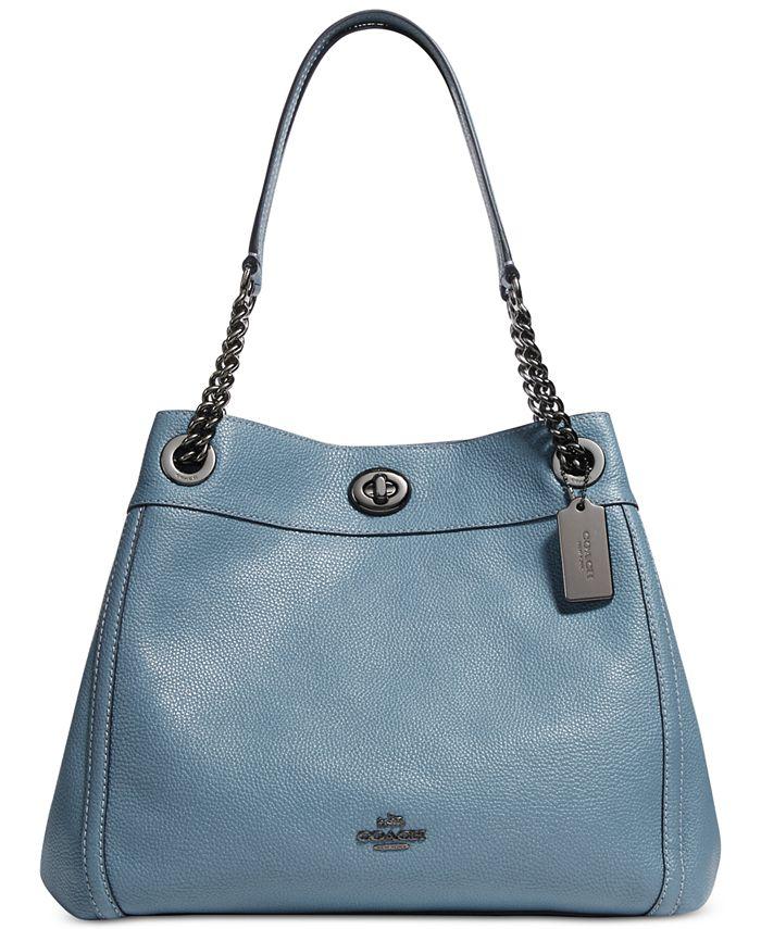 COACH Turnlock Edie Shoulder Bag in Pebble Leather & Reviews ...
