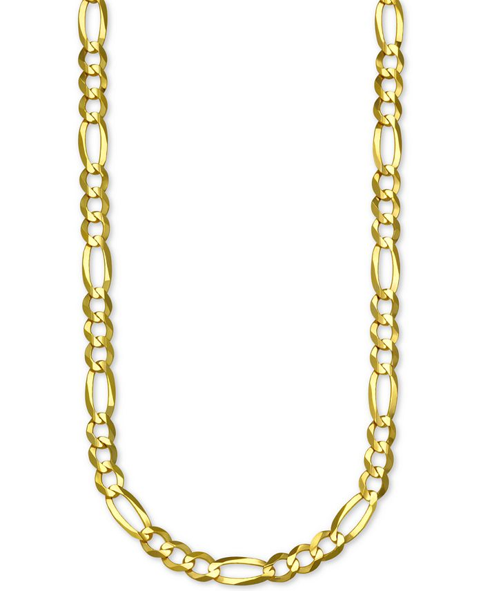 """Italian Gold - Figaro Link 26"""" Chain Necklace in 14k Gold"""