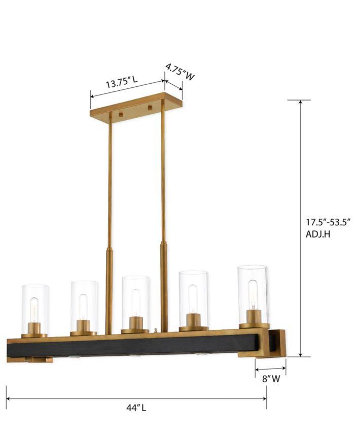 Livex Buttonwood 8-Light Linear Chandelier & Reviews - All Lighting - Home Decor - Macy's