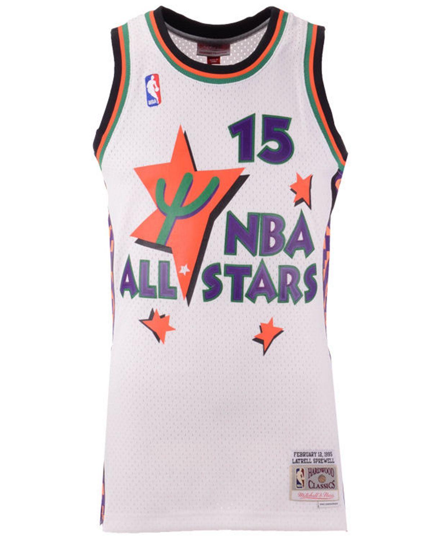 Mitchell & Ness Men's Latrell Sprewell NBA All Star 1995 Swingman Jersey & Reviews - Sports Fan Shop By Lids - Men - Macy's