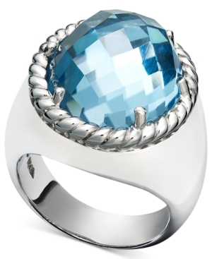 Sterling Silver Ring, Blue Topaz Oval Ring (11-8/10 ct. t.w.)