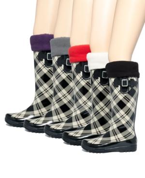 Betsey Johnson Rain Boot Liners, Fleece Socks - Knee Height