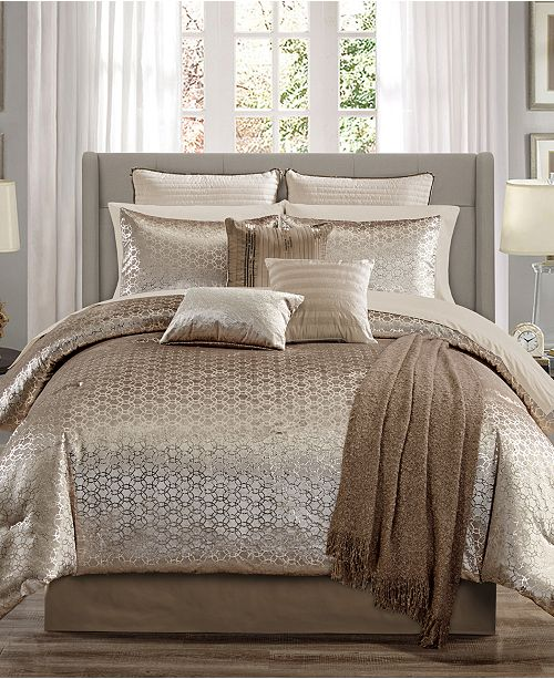 Hallmart Collectibles Hexan 14 Pc. King Comforter Set, Created for