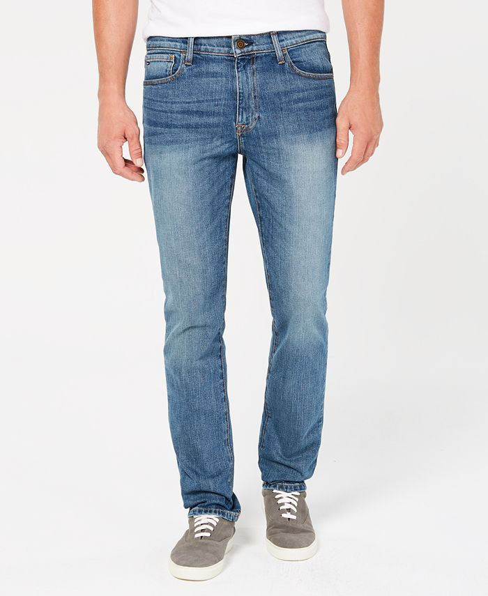 Tommy Hilfiger - Men's Straight Fit Stretch Jeans