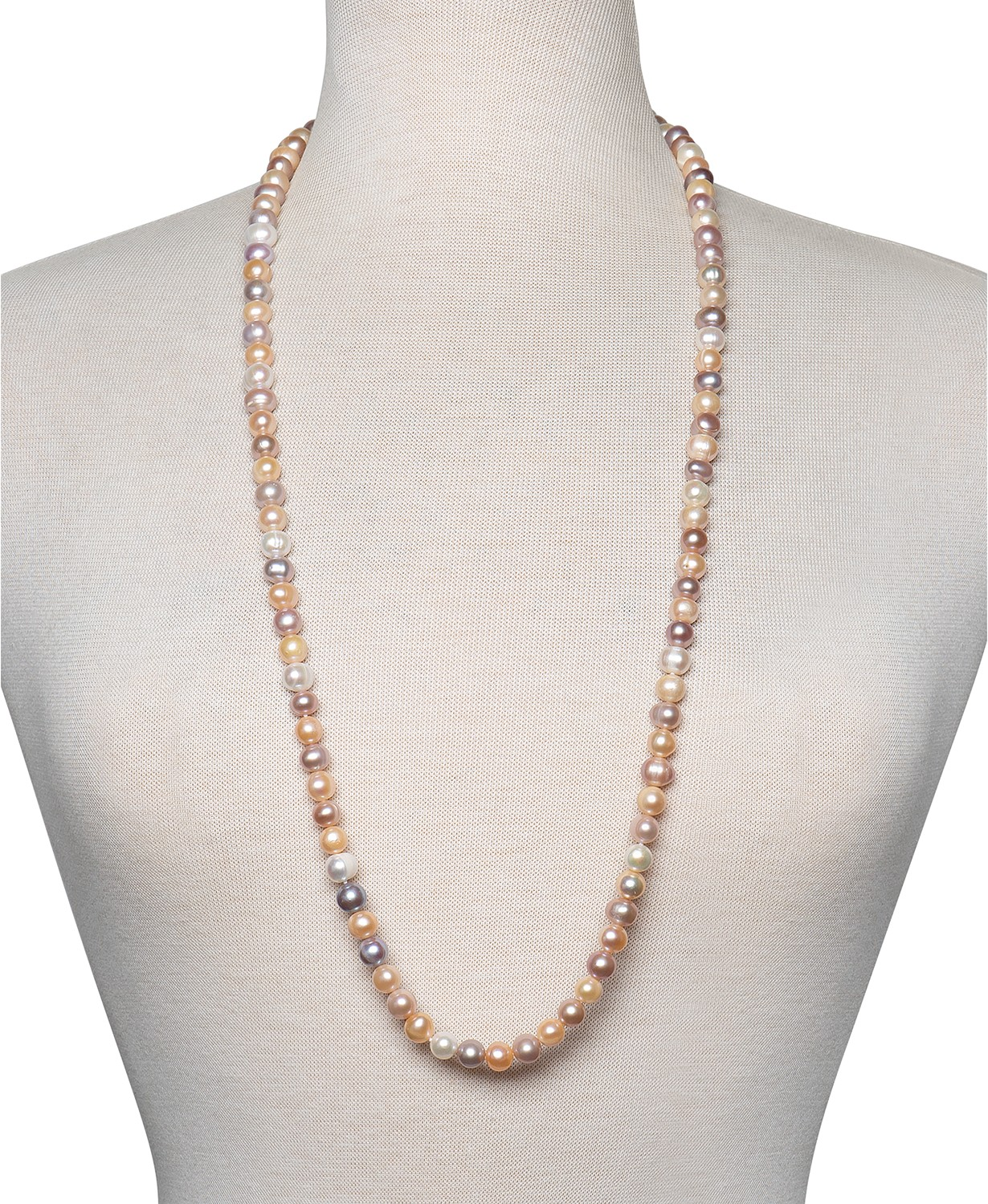 (70% OFF Coupon) Genuine Pearl Necklace 36″ Cultured Freshwater Pearl $60.00