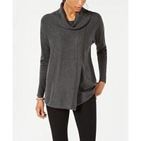 Deals on JM Collection Faux-Wrap Cowl-Neck Sweater
