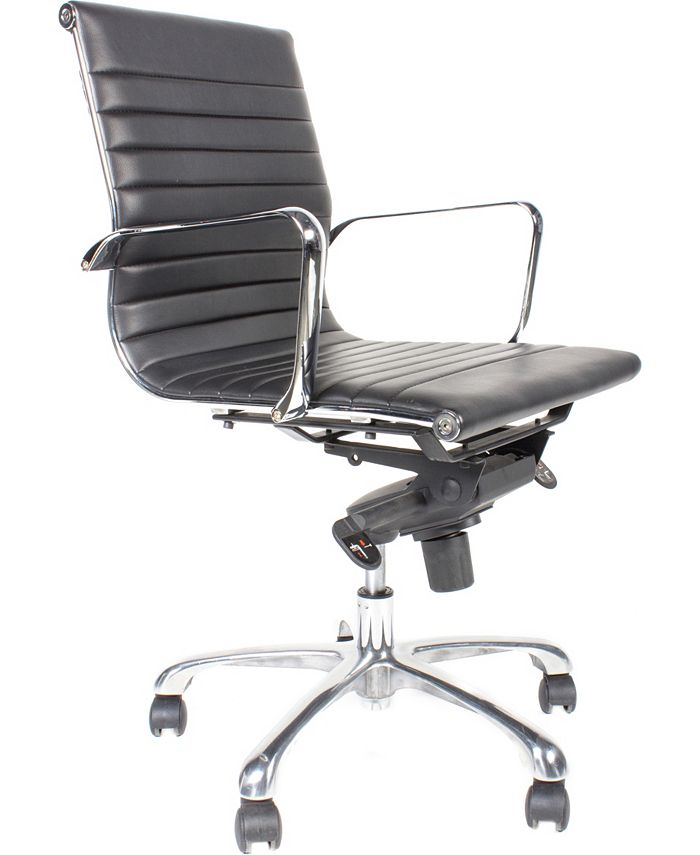 Moe's Home Collection - OMEGA OFFICE CHAIR LOW BACK BLACK-SET OF TWO