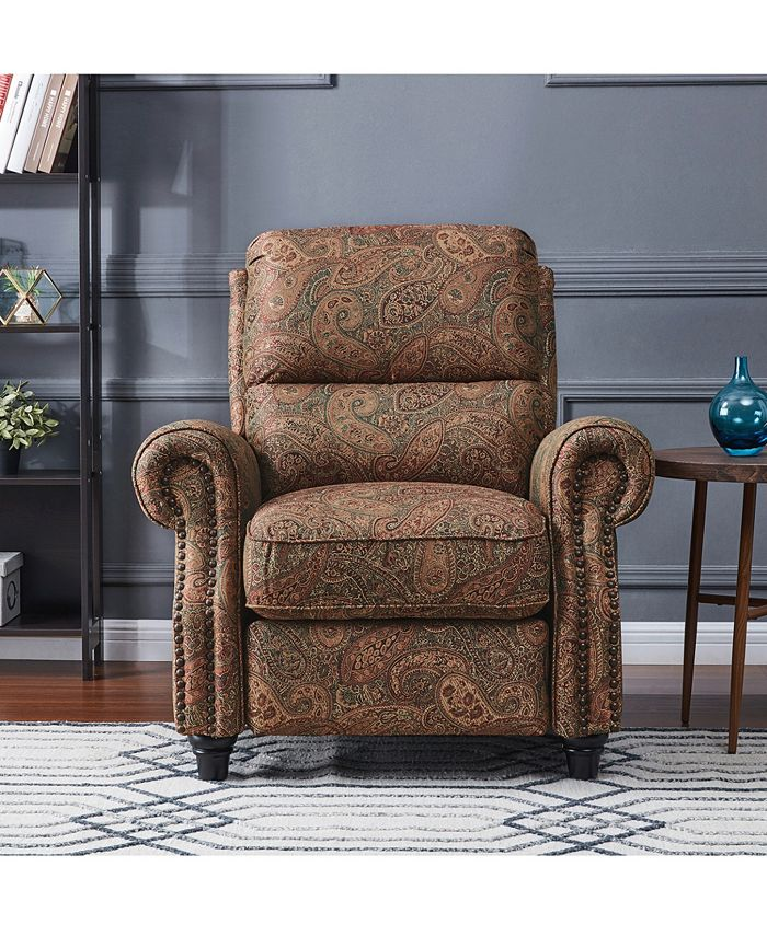 Furniture - ProLounger Push Back Recliner Chair in Paisley
