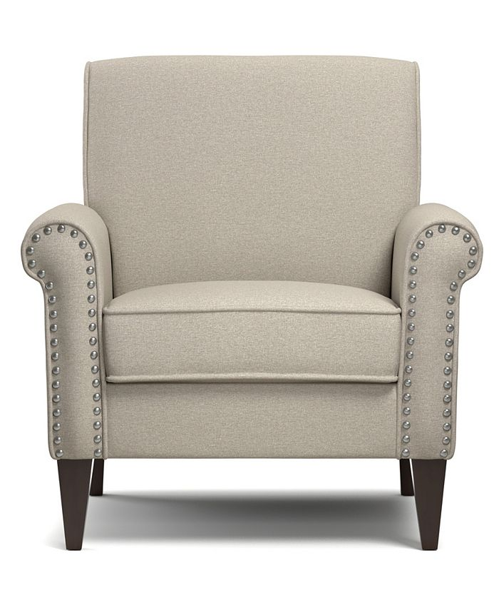 Handy Living - Janet Arm Chair in Charcoal Linen