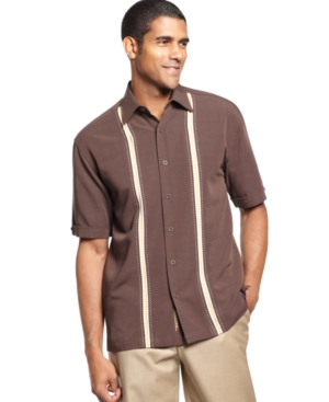 Cubavera Shirt, Short Sleeve Thin Panel Front