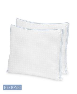 2 Pack TempaGel Max Cooling Gel Beads and Memory Fiber Standard Pillow