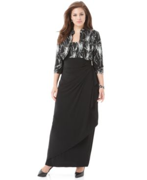 Alex Evenings Plus Size Sleeveless Beaded Gown and Jacket