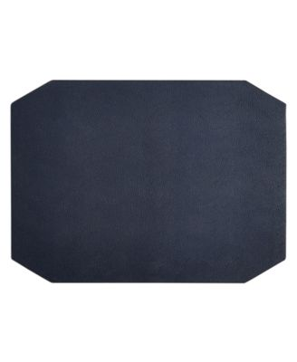 Navy Faux Leather Placemat, Created for Macy's