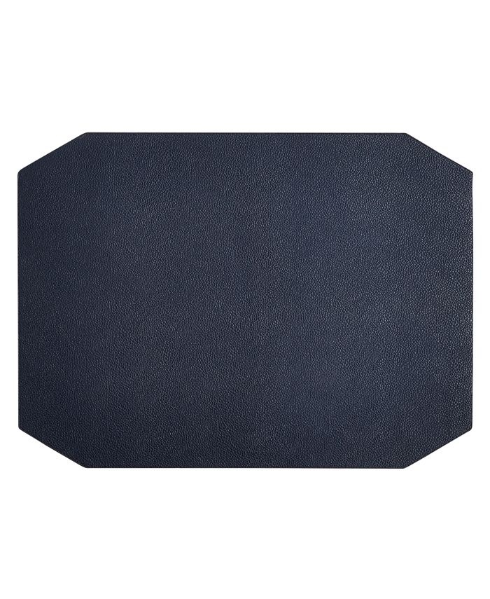 Hotel Collection - Navy Faux Leather Placemat