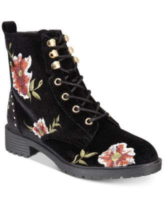 Material Girl Odelia Lace-Up Combat