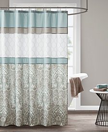 "510 Design Shawnee 72"" x 72"" Printed and Embroidered Shower Curtain"
