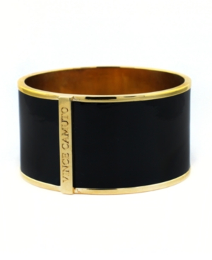 Vince Camuto Bracelet, Black Leather Cuff Bracelet