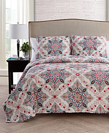 VCNY Home Wyndham 3-Pc. Full/Queen Medallion Quilt Set