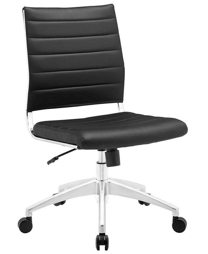 Modway - Jive Armless Mid Back Office Chair in White