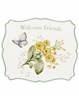 Lenox Dinnerware, Butterfly Meadow Sentiment Trivet Friends