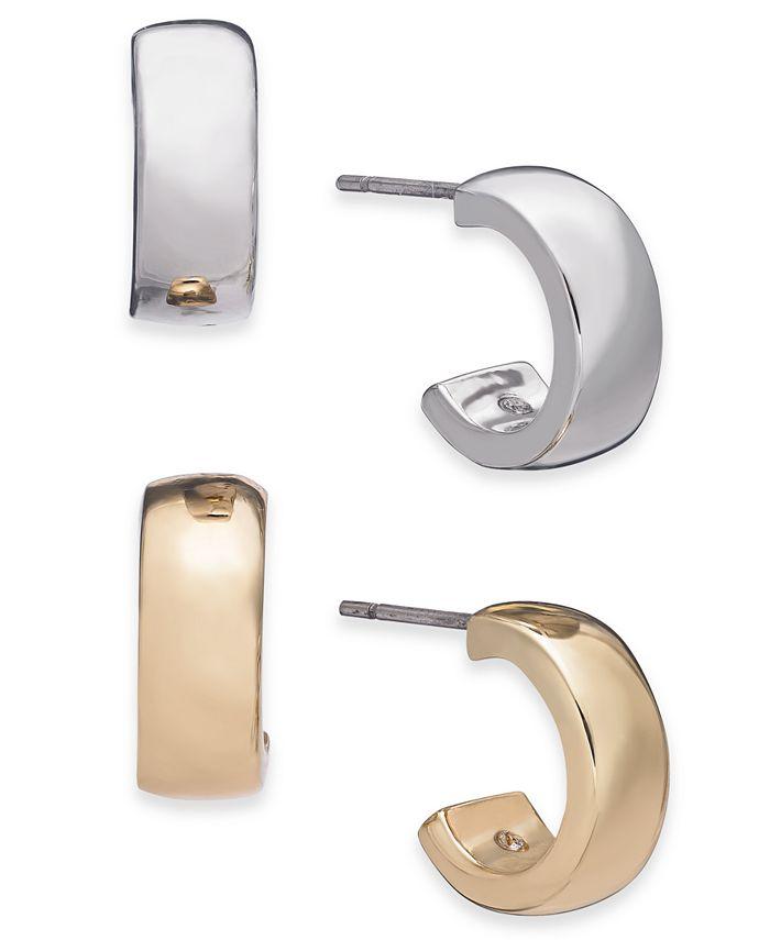 Alfani - Two-Tone 2-Pc. Set Hoop Earrings