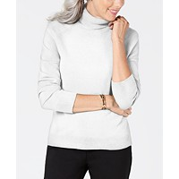 Deals on Karen Scott Petite Solid Luxsoft Turtleneck