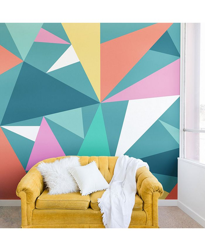 Deny Designs - Old Art Studio Modern Geometric 49 Wall Mural