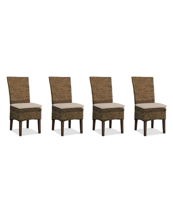 Furniture - Calypso Dining Chair 4-Pc. Set (4 Woven Side Chairs)