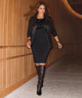 Alfani Plus Size Dress, Sleeveless Sheath